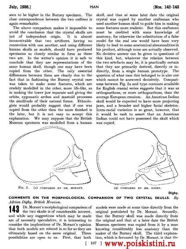 Статья в журнале Man, июль 1936, стр.107